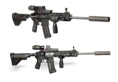 US Army M4 rifle Stock Photos