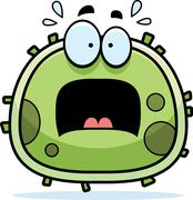 scared germ microbe - stock illustration