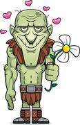 Cartoon goblin flower Stock Illustration
