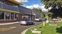 New McDonald's Restaurant 2 Stock Footage