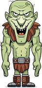 cartoon evil goblin - stock illustration