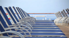 Cruise Ship Deck Chairs 01 HD Stock Footage