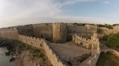 Knights Grand Master Palace in Rhodes Island Stock Footage