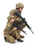 Military Father and Son Stock Photos