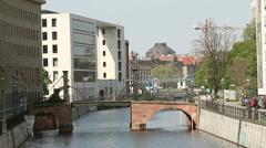 Bridge Jungfernbrücke in Berlin Stock Footage