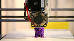 3D printer in use, montage, three-dimensional, industrial robot, time lapse Stock Footage