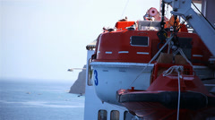 Cruise Ship Lifeboat 01 HD - stock footage