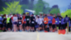 Defocused Stylized Starting Line 4340 Stock Footage