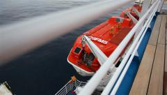 Cruise Ship Lifeboat 02 HD - stock footage