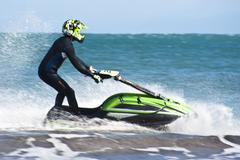 Man on the jet sky Stock Photos