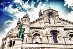 Basilique du Sacre Coeur in Montmartre Stock Photos