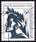 Postage stamp Germany 1971 Dante Alighieri, poet - stock photo