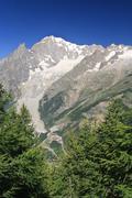 Mont-Blanc vertical composition Stock Photos