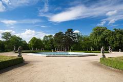 Garden in the Castle in Slavkov  - stock photo