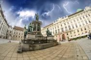 Stock Photo of Kaiser Franz I statue in Hofburg - Vienna, Fisheye view