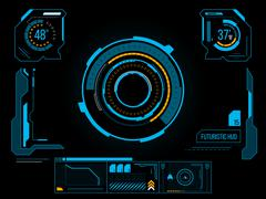 futuristic user interface hud - stock illustration