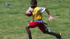 Flag football touchdown Stock Footage