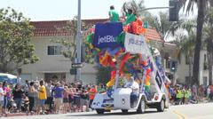 Airplane Boarding Stairway Long Beach Pride Parade Stock Footage