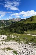 high Gardena valley - vertical composition - stock photo
