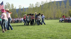 School kids western dance fun 4K 0308 Stock Footage