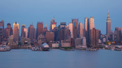 New York City Skyline Early Twilight 2 Stock Footage