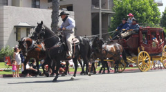 Horse and Buggy at Long Beach Pride Parade Stock Footage