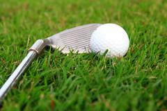golf-ball on course - stock photo