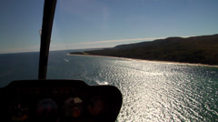 Ocean scenery aerial footage from a chopper, on islands, HD, UP24944 Stock Footage