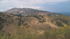 View from the top of Santa Cruz Island in Channel Islands National Park  Stock Footage