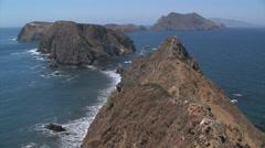 Anacapa Island View Stock Footage