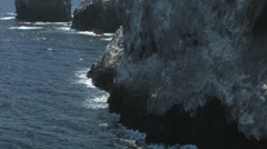 Anacapa Island Bay View zoom out shot.  Stock Footage