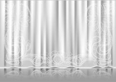 curtain white - stock illustration