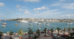 4K video of the beautiful Valletta harbour on the island of Malta Stock Footage