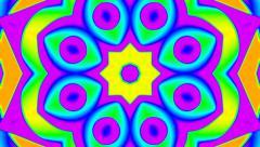 My Trippy Kaleidoscope Simple Colorful VJ background loop 2 Stock Footage