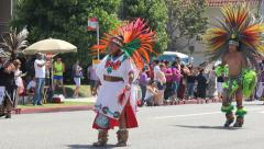 Native American Long Beach Pride Parade Stock Footage