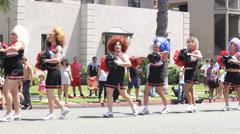 Cross Dresser Cheerleaders Long Beach Pride Parade Stock Footage