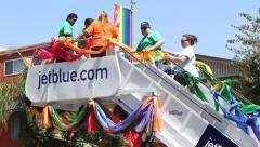 Stairway to Pride Float Long Beach Pride Parade Stock Footage