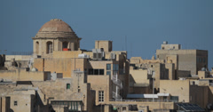 4K video of the baroque buildings of Valletta on the island of Malta Stock Footage