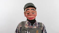 Puppet Hillbilly Can't Stop Laughing Stock Footage