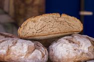 Stock Photo of handmade artisan bread in a medieval fair