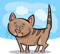 Sarjakuva kuvaa kissa tai kissanpentu Piirros