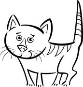 Stock Illustration of cat or kitten for coloring book