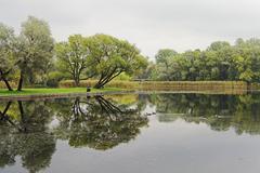 Lake in Park - stock photo