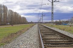 Railroad Embankment Stock Photos