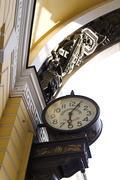Old-style Public Clocks - stock photo