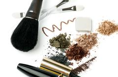 Make up in brown Stock Photos