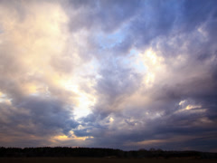 Rainy clouds at sunset. Time Lapse. 4x3 Stock Footage