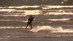 kite surfing - stock footage