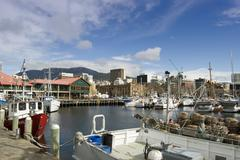 Hobart Constitution Docks Stock Photos