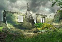 Fantastic ruins - stock photo